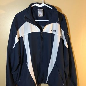 Vintage Reebok Track Jacket (blue/white) Size L